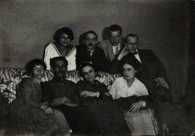 Маяковский, Л.Ю. и О.М. Брик с друзьями и знакомыми. Москва. 1919