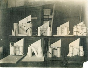 Exhibitions of student's works on «The Revelation and Expression of Three-dimensional Form». Late 1920 Photo