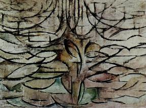 Flowering Apple Tree 1912, oil on canvas, 30 × 41 in (78 × 106 cm) Gemeentemuseum, The Hague