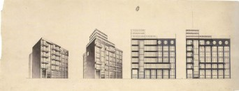 G. Barkhin. Izvestiya Newspaper Office and Printing Factory in Moscow. Sketches. 1925 a