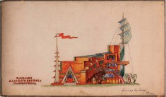 I. Golosov. The Pavilion of Far-East Republics All-Russian Agricultural, Handicraft and Industrial Exhibition, Competition project. 1923