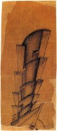 I. Lamtsov. IN. Ladovsky's workshop Double Volume. Revelation and expression of mass and weight. Sketches. 1922 b