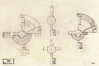 I.. Lamtsov. N. Ladovsky's workshop. Residential Communal City Block. Development of the Khamovnichesky District in Moscow. Club-Canteen. 1926. Photos 3