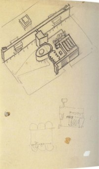 I. Nikolaev. Textile Institute Students Hostel in Moscow. Sketches. 1929 a