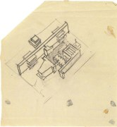 I. Nikolaev. Textile Institute Students Hostel in Moscow. Sketches. 1929 c