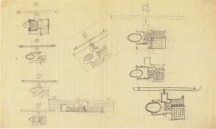 I. Nikolaev. Textile Institute Students Hostel in Moscow. Sketches. 1929