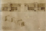 O. Ivanova. Communal House Main Facade. Exercise on the Expressiveness of a Frontal Surface. 2nd year. 1927:1928. Photos