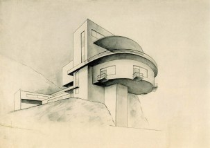 O. Ivanova. N. Ladovsky's workshop. Tourist Centre in the Mountains. 3rd year. 1928:1929