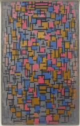 Piet Mondrian Title Composition Work Type Painting Date 1916 Material Oil on canvas, with wood Measurements 46 7_8 x 29 5_8 inches (119 x 75.1 cm)