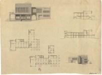 """S. Ostrovskaya. Supervisors V. Simbirtsev, A. Mashinsky, and V. Egorov. Hotel """"Intourist"""". 2nd year. 1932"""