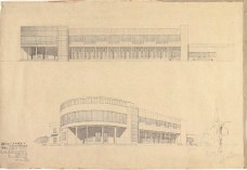 S. Ostrovskaya. Supervisors V. Simbirtsev, A. Mashinsky. and V. Egorov Library for Sukhumi. 2nd year. 1932