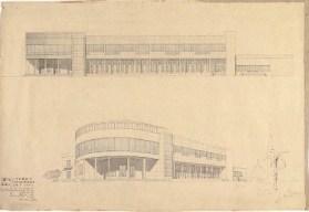 S. Ostrovskaya. Supervisors V. Simbirtsev, A. Mashinsky. and V. Egorov Library for Sukhumi. 2nd year. 1932