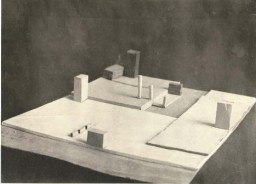 Unknown Authors. City Square with Adjoining Arteries. Solution for an open space. Models. Early 1930s. Photos