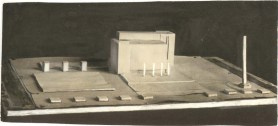 Unknown Authors. Solution for the Volume Composition of a Large-scale Public Building. Models. Early 1930s. Photos b
