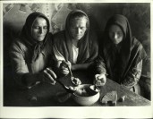 Margaret Bourke-White, Russian peasant women eating food fr. the same bowl (Georgian SSR 1932)