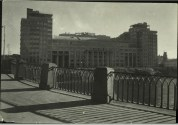 Margaret Bourke-White, View of new unident. public bldg. fr. bridge over river (1931)