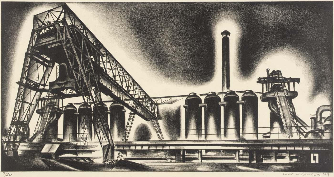 Louis Lozowick, Blast Furnaces (1929)