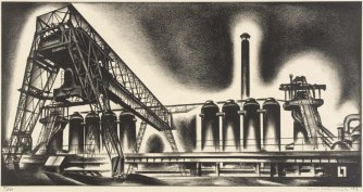 Louis Lozowick, Blast Furnaces (1929)