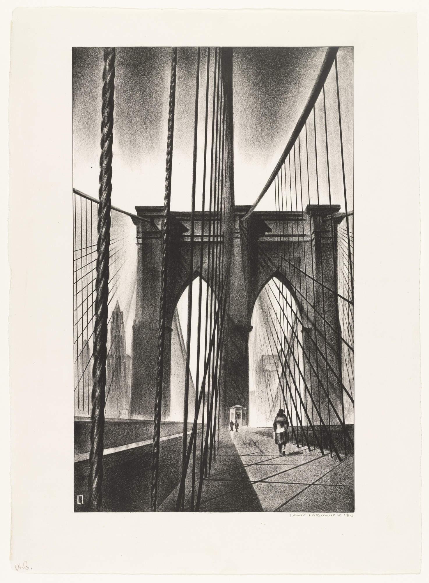 Louis Lozowick Brooklyn Bridge 1930