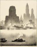 Louis Lozowick, Dusk (1931)