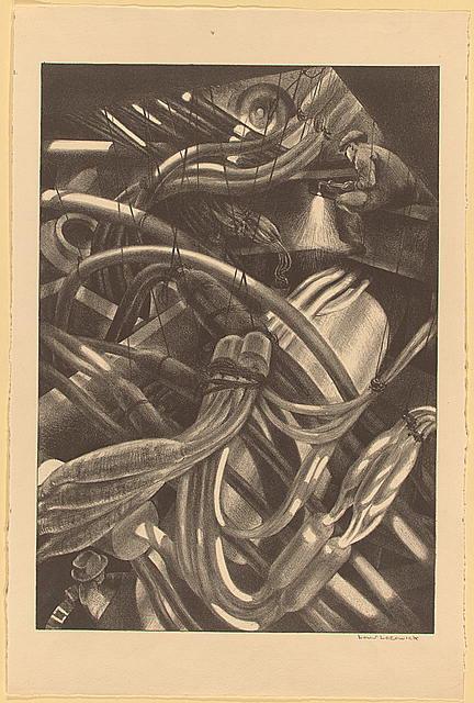 Louis Lozowick, Guts of Manhattan (1939)