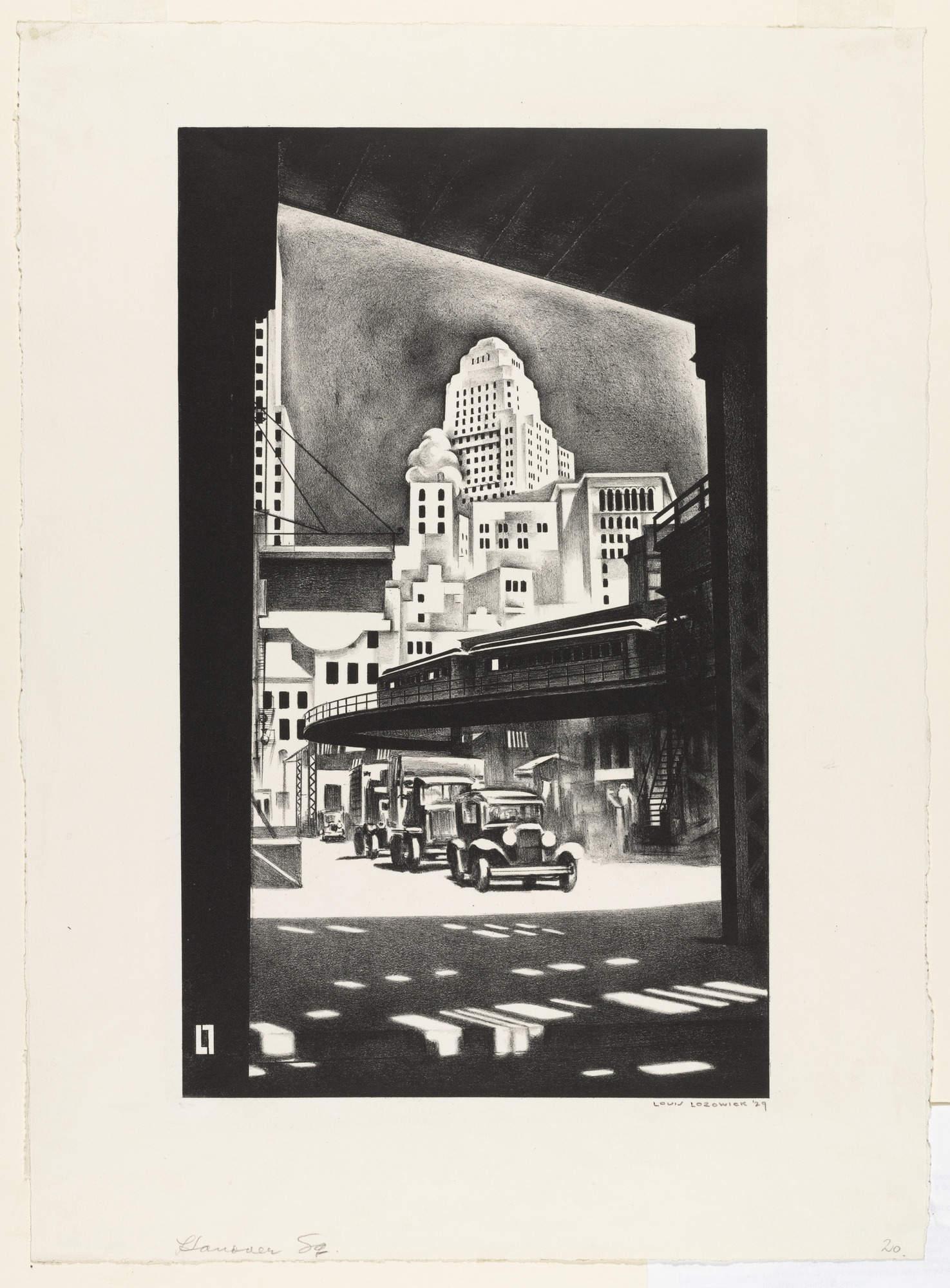 Louis Lozowick Hanover Square 1929