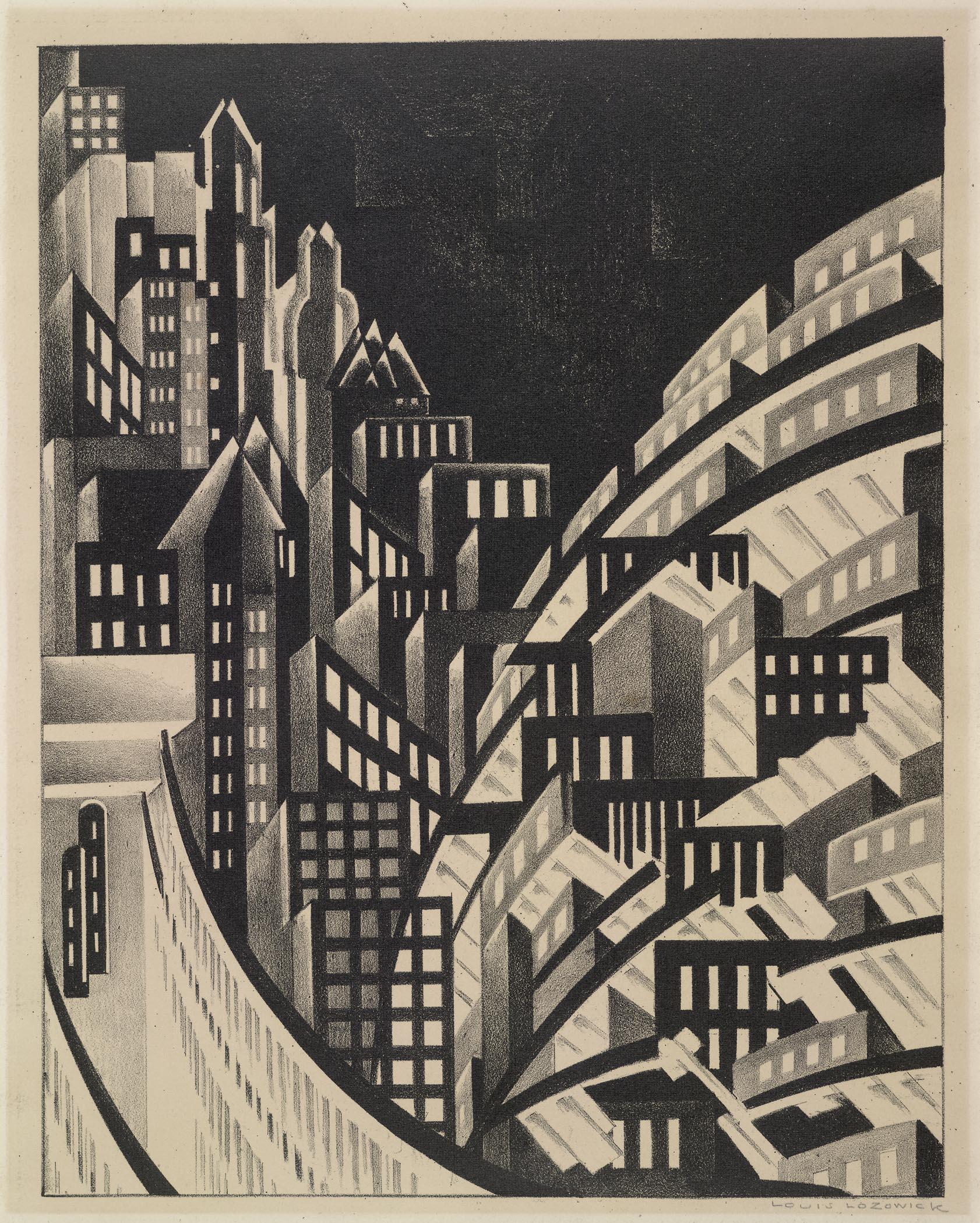 Louis Lozowick, New York, 1925 lithograph