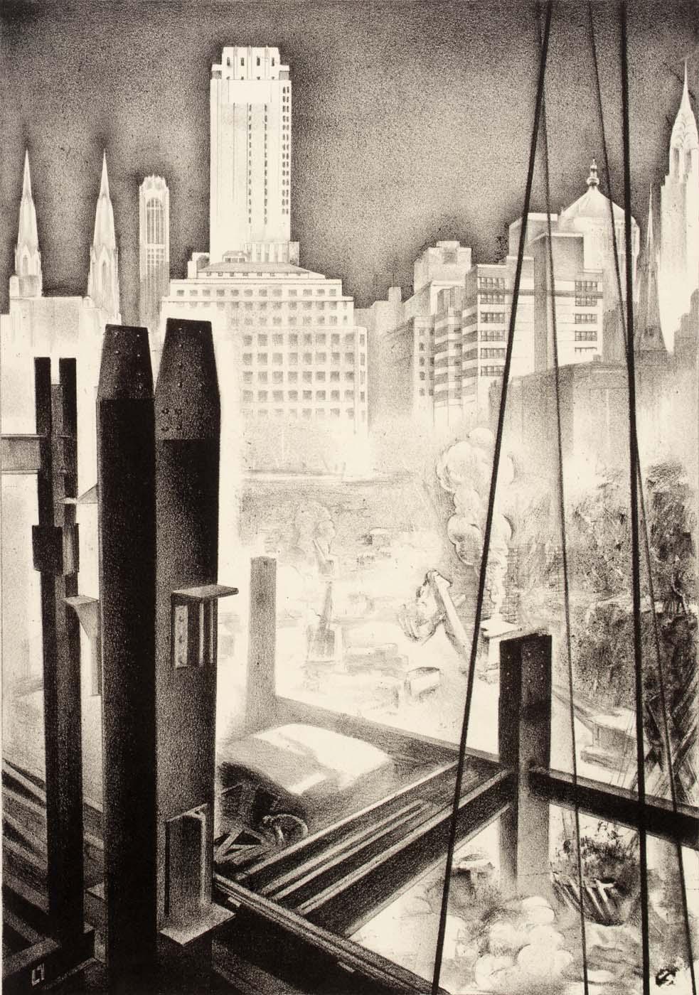 Louis Lozowick, Radio City (1932)