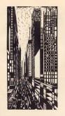 "Max Thalmann, Skyscraper Under Construction, from the Portfolio ""America in Woodcut"", 1925"