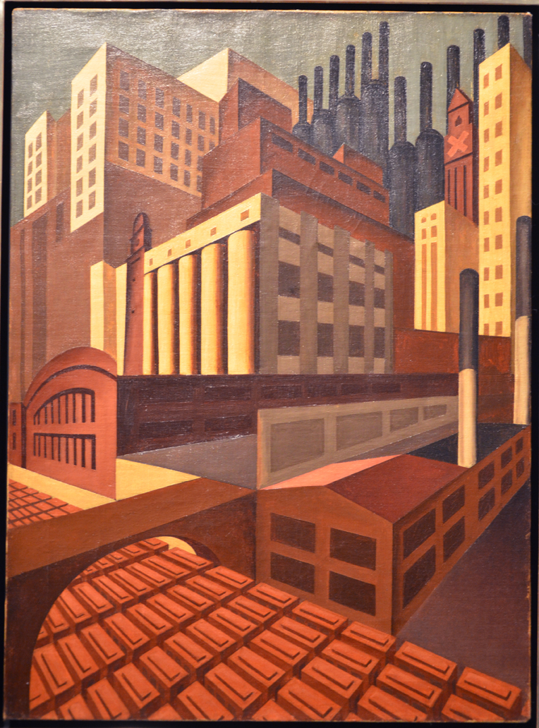 Source Louis Lozowick, Cleveland, 1924-27. Oil on canvas. USA