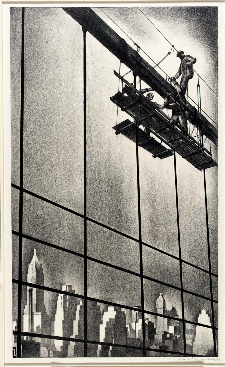 Through Brooklyn Bridge Cables 1938