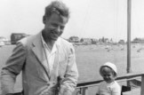 Paul de Man in Nantucket in 1952 with his son Michael, from his second marriage