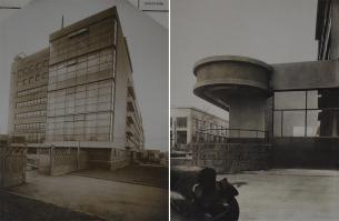 Фрагменты фасада комбината газеты «Правда». Архитектор Голосов И.А. Фото 1935 года