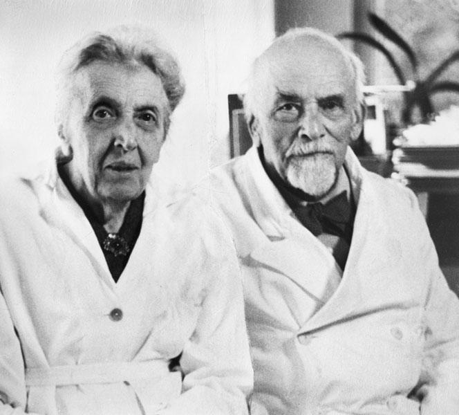 Late portraits of Cécile (1875-1962) and Oskar Vogt (1870-1959)