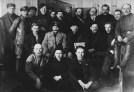 Upper row, P. Malkov, E. Rahja, S. G. Said-Galiev, P. Zalutsky, J. Drobnis, M. Tomsky, M. Kharitonov, A. Joffe, D. Ryazanov, A. Badaev, L. Serebryakov, M. Lashevich