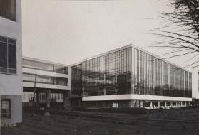 Lucia Moholy, Architect- Walter Gropius Bauhaus Building, Dessau, 1925-1926- View fom the northwest
