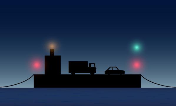 Navigation Lights Vehicular Ferry