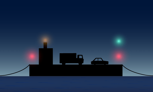 Navigation Lights Vehicular Ferry