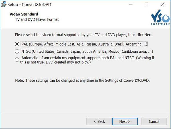 convertxtodvd setup