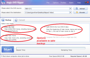 magic dvd ripper-backup options