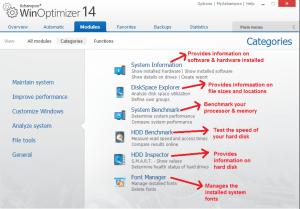 Ashampoo WinOptimizer modules analyzesystem
