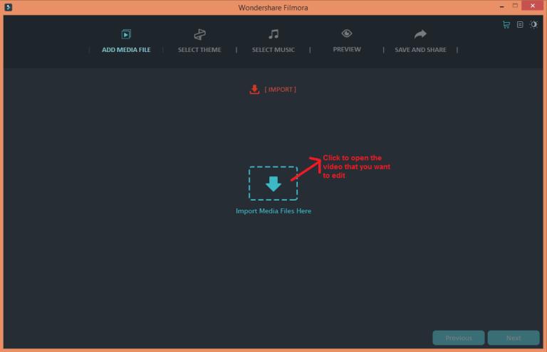 wondershare video editor easymode open