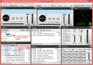 sam broadcaster addmusic