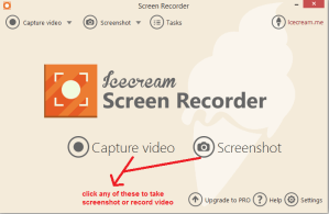 icecream Screen recorder mainscreen