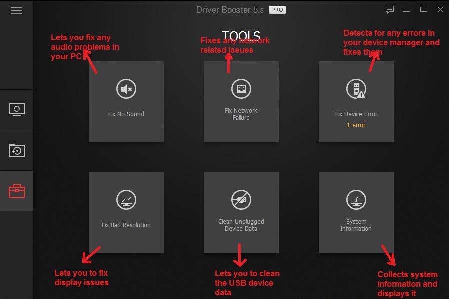 IObit driver booster tools