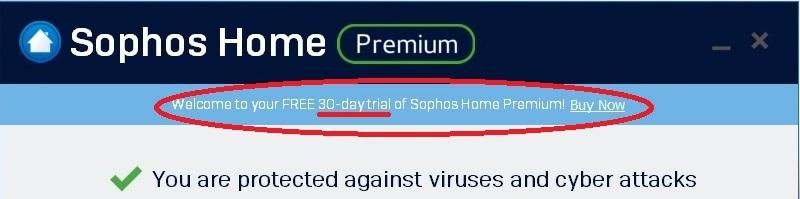 Sophos Antivirus trial limitation