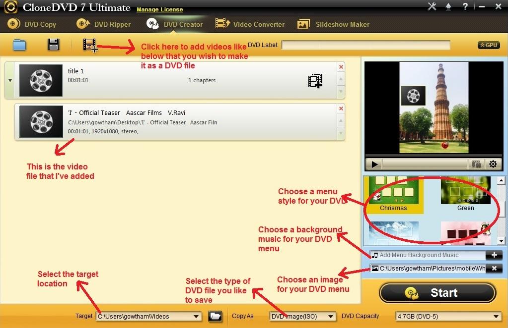 Clone DVD Ultimate DVD creator