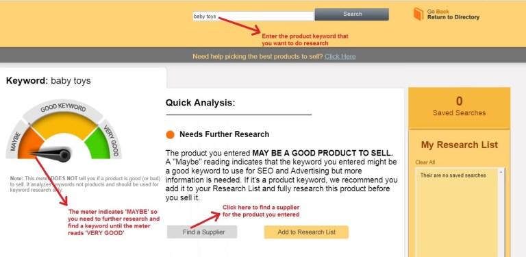 Worldwide Brands market tab research tool