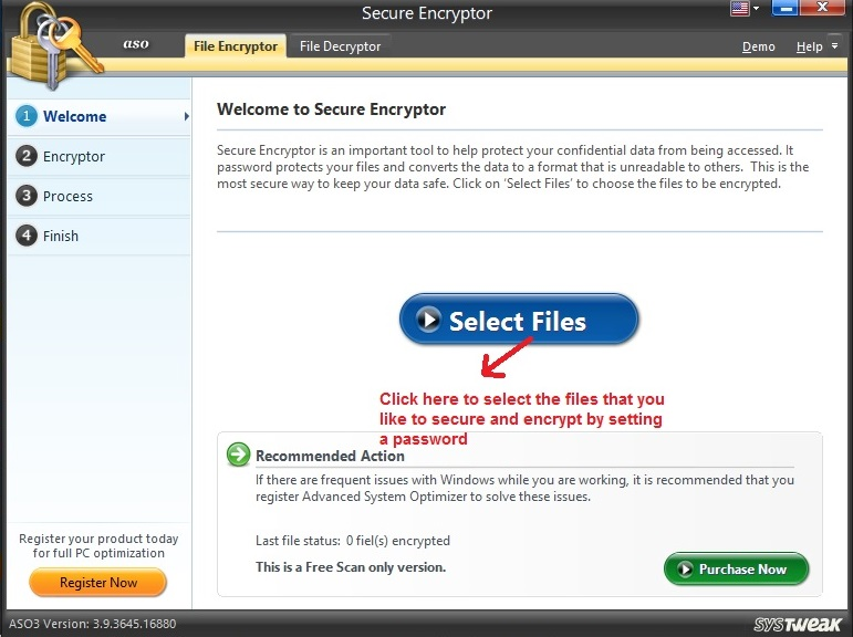 Advanced System Optimizer Secure Encryptor