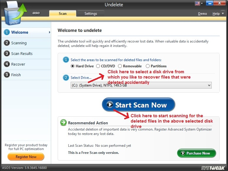 Advanced System Optimizer Undelete